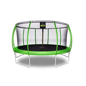 Moxie Round Outdoor Backyard Trampoline Set with Enclosure - 15.5-ft - Green