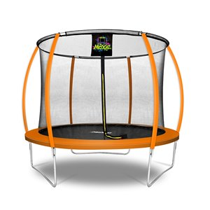 Moxie Round Outdoor Backyard Trampoline Set with Enclosure - 10.53-ft - Orange
