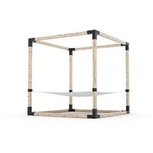 Toja Grid 2-Person Hammock Kit for 4x4 Wood Posts - 8-ft x 8-ft - Freestanding