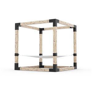 Trousse de hamac Toja Grid pour 2 personnes pour du bois 6x6, 8 pi x 8 pi, autoportant