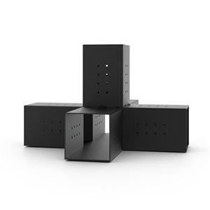 Toja Grid Quint 5-Arm Pergola Structure Extension Bracket for 6x6 Wood Posts - Freestanding