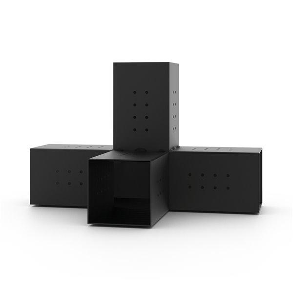 Toja Grid Quad 4-Arm Pergola Extension Bracket for 6x6 Wood Posts - Freestanding