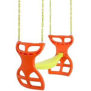 Swingan Two Seater Glider Swing - Vinyl Coated Chain - Orange