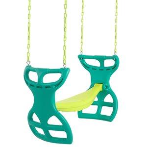 Swingan Two Seater Glider Swing - Vinyl Coated Chain - Green