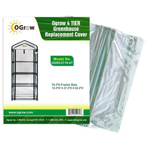Ogrow 4-Tier Greenhouse Replacement Cover - 19.3-in x 62.2-in - Clear