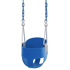 Swingan High Back Full Bucket Toddler/Baby Swing - Blue