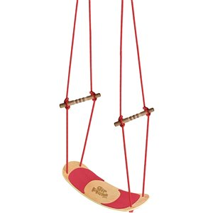 Swingan Air Plank Surfboard Swing - Adjustable Rope - Red