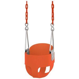 Swingan High Back Full Bucket Toddler/Baby Swing - Orange