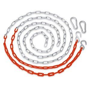 Swingan Vinyl Coated Chain - Orange - Set Of 2