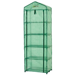 Ogrow Ultra-Deluxe 5-Tier Portable Greenhouse - 1.5-ft x 2.25-ft - Green