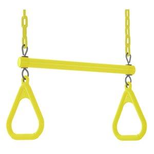 Swingan Trapeze Swing Bar - Vinyl Coated Chain - Yellow