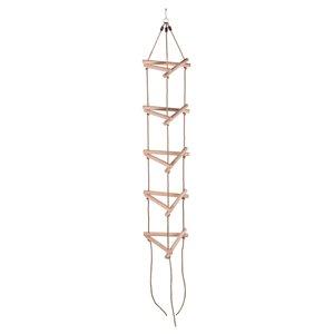 Swingan 5-Step Triangle Climbing Rope Ladder - Brown