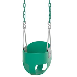 Swingan High Back Full Bucket Toddler/Baby Swing - Green