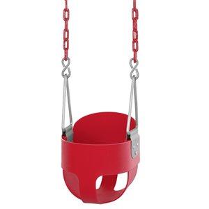 Swingan High Back Full Bucket Toddler/Baby Swing - Red