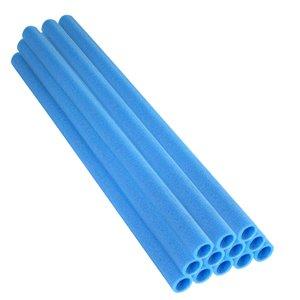 Upper Bounce Trampoline Foam Pole Sleeves - 37-in - For 1-in Dia Poles - Blue - Set of 12
