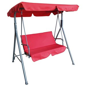 Henryka 2-Seater Swing - Steel and Polyester - Red