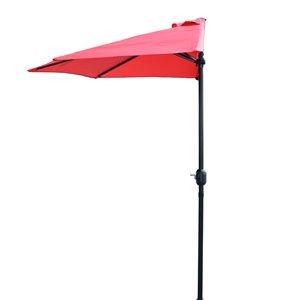 Henryka Half Umbrella - 9-ft - Red