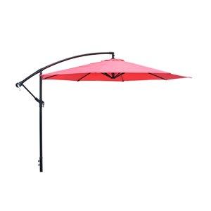 Henryka Cantilever Umbrella - 10-ft - Red