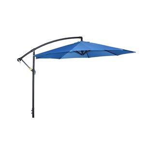 Henryka Cantilever Umbrella - 10-ft - Blue