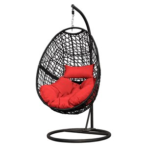 Henryka Egg Swing - Steel and Polyester - Red