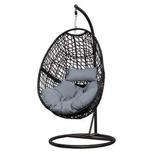Henryka Egg Swing - Steel and Polyester - Grey