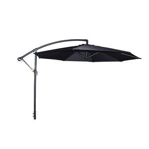 Parasol en porte-à-faux Henryka, 10 pi, noir