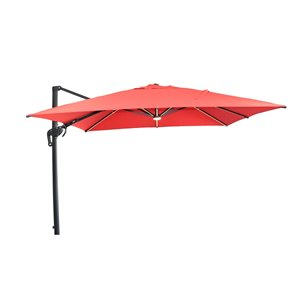 Henryka Cantilever Umbrella With Lights - 10-ft - Red
