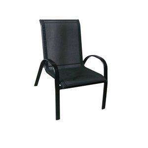 Chaise empilable Henryka en acier noir