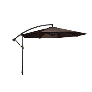 Henryka Cantilever Umbrella - 10-ft - Chocolate