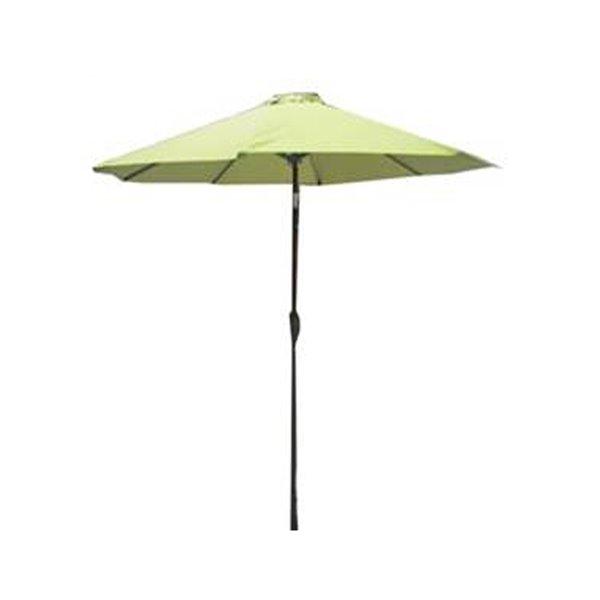 Parasol de marché Henryka, inclinable, 9 pi, vert
