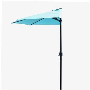 Henryka Half Umbrella - 9-ft - Blue