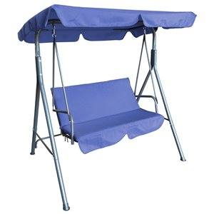 Henryka 2-Seater Swing - Steel and Polyester - Blue