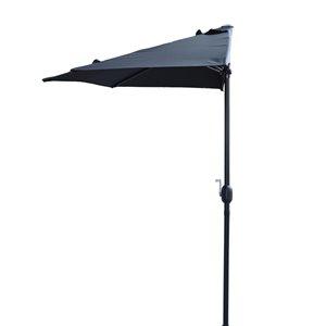 Henryka Half Umbrella - 9-ft - Black