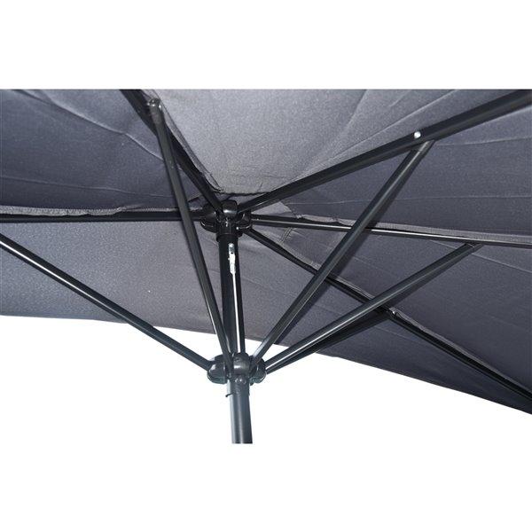 Demi-parasol Henryka, 9 pi, gris