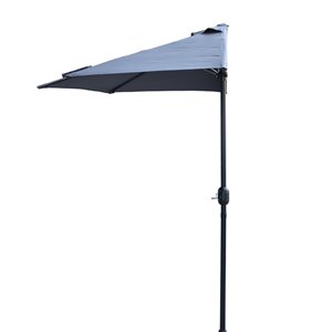 Henryka Half Umbrella - 9-ft - Grey