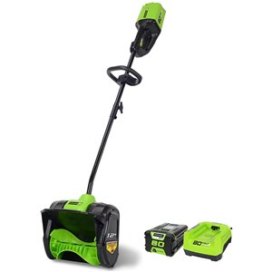 Pelle à neige sans fil Greenworks Pro avec batterie, 12 po, 80 volts