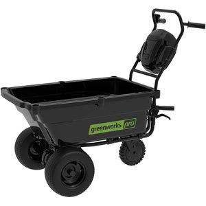Chariot de jardin automoteur Greeworks Pro, 80 volts, 3,4 pi³