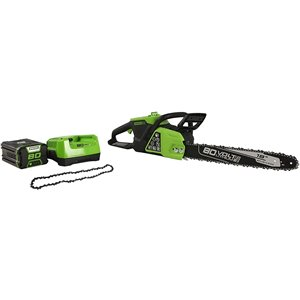Greenworks Pro Cordless Chainsaw - 80-Volt - 18-in Bar Length - 1-Battery/Charger