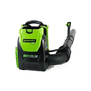 Greenworks Cordless Backpack Leaf Blower - 80-Volt - 580 CFM - 145-mph - Tool Only