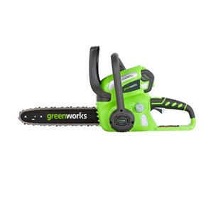 Greenworks Cordless Chainsaw - 40-Volt - 12-in Bar Length