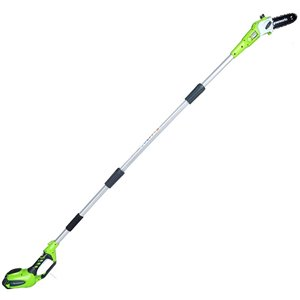 Greenworks Cordless Pole Saw with Lithium-Ion Battery - 40-Volt - 8.5-in Bar Length