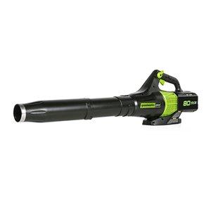 Souffleur à feuilles sans fil Greenworks, 80 volt, 580 pcm, 145 mi/h (outil seulement)