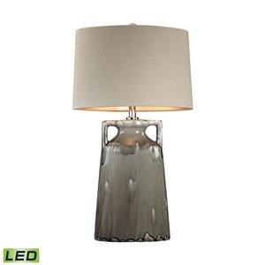 Elk Home Reaction Glaze Urn LED Table Lamp - Grey