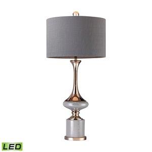 Elk Home Fluted Neck LED Table Lamp - Grey