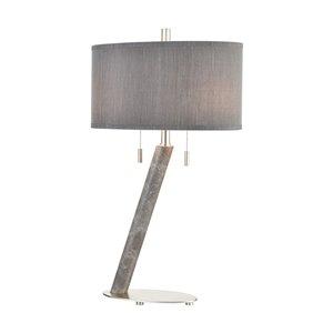 Elk Home Lean On Me 2-Light Table Lamp - Grey Marble