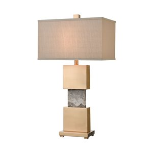 Elk Home Aldern Table Lamp with Shade - Cafe Bronze/Light Taupe