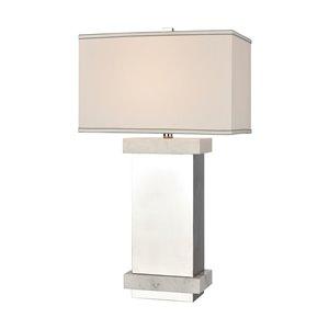 Elk Home Keystone Tall Table Lamp - Silver/White