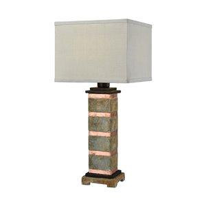 Elk Home Controlled Burn Table Lamp - Grey