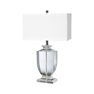 Elk Home Crystal Rectangular Urn Table Lamp - White