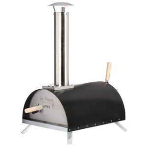 Four à pizza au bois écologique portatif Le Peppe WPPO, noir